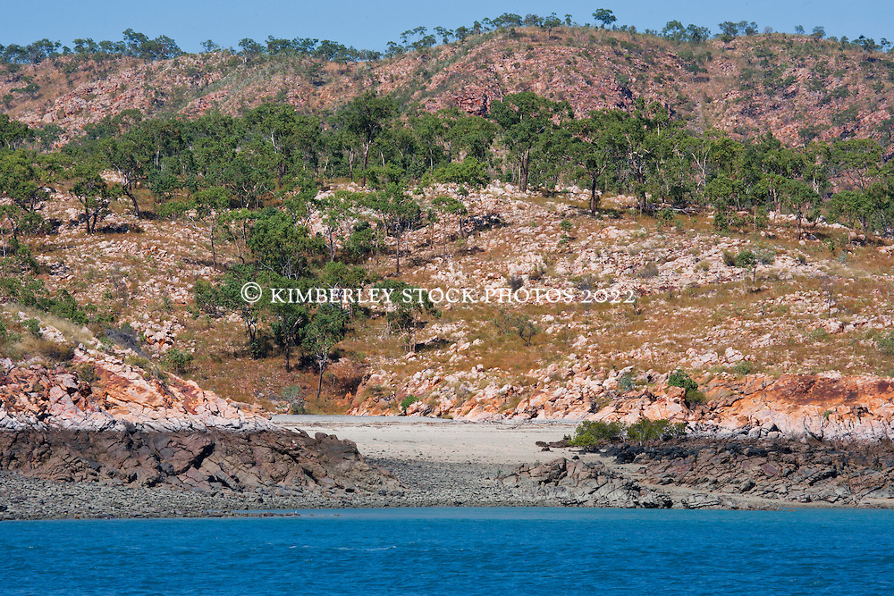 Small beaches form in rocky clefts on the Kimberley coast.