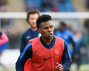 Peterborough forward, new signing Shaquile Coulthirst before the Sky Bet League 1 match between Gillingham and Peterborough United at the MEMS Priestfield Stadium, Gillingham, England on 23 January 2016. Photo by David Charbit.