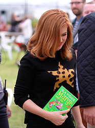 "Pictured:  Hollywood star Isla Fisher attends the Edinburgh International Book Festival 2017 to promote her book ""Marge In Charge""<br />