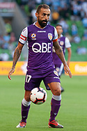 MELBOURNE, VIC - JANUARY 19: Perth Glory midfielder Diego Castro (17) controls the ball at the Hyundai A-League Round 14 soccer match between Melbourne City FC and Perth Glory at AAMI Park in VIC, Australia 19th January 2019. Image by (Speed Media/Icon Sportswire)