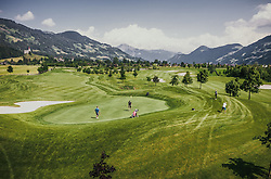 THEMENBILD - Golfer beim spielen der Runde. Der 18-Loch-Championshipplatz mit überdachter Drivingrange für PROS und Anfänger, aufgenommen am 06. Juni 2019 in Uderns Oesterreich // Golfer playing. the 18-hole championship course with covered driving range for PROS and beginners, in Uderns, Austria on 2019/06/06. EXPA Pictures © 2019, PhotoCredit: EXPA/ JFK