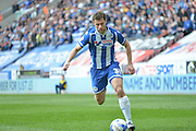 Wigan Striker Yanic Wildschut during the Sky Bet League 1 match between Wigan Athletic and Southend United at the DW Stadium, Wigan, England on 23 April 2016. Photo by John Marfleet.