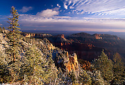 Sunrise after snowfall, Pt. Imperial, Grand Canyon National Park, Arizona...Subject photograph(s) are copyright Edward McCain. All rights are reserved except those specifically granted by Edward McCain in writing prior to publication...McCain Photography.211 S 4th Avenue.Tucson, AZ 85701-2103.(520) 623-1998.mobile: (520) 990-0999.fax: (520) 623-1190.http://www.mccainphoto.com.edward@mccainphoto.com.