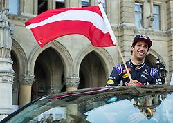 Formula 1 driver Daniel Ricciardo (AUS) of Infiniti Red Bull Racing at Spielberg Red Bull Showrun, on April 22, 2015 in Rathausplatz, Vienna / Wien, Austria. Photo by Vid Ponikvar / Sportida