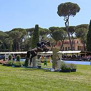 Roma 25/05/2018 Piazza di Siena<br /> 86 CSIO Piazza di Siena<br /> una panoramica di Piazza di Siena durante la gara