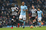 Fernandinho during the Premier League match between Manchester City and Newcastle United at the Etihad Stadium, Manchester, England on 20 January 2018. Photo by George Franks.
