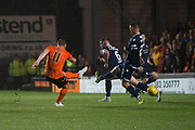 30th August 2019; Dens Park, Dundee, Scotland; Scottish Championship, Dundee Football Club versus Dundee United; Cammy Smith of Dundee United scores for 6-2 in the 83rd minute