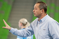 Bosny Jan coach of Czech Republic during handball match between Women National Teams of Slovenia and Czech Republic of 4th Round of EURO 2012 Qualifications, on March 25, 2012, in Arena Stozice, Ljubljana, Slovenia. (Photo by Urban Urbanc / Sportida.com)