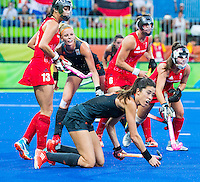 IO DE JANEIRO - Naomi van As (Ned)   tijdens de finale tussen de dames van Nederland en  Groot-Brittannie in het Olympic Hockey Center tijdens de Olympische Spelen in Rio. COPYRIGHT KOEN SUYK