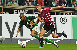 30.10.2010, Weserstadion, Bremen, GER, 1. FBL, Werder Bremen vs 1. FC Nürnberg / Nuernberg, im Bild Wesley (Bremen #5), Mike Frantz (Nuernberg #17)   EXPA Pictures © 2010, PhotoCredit: EXPA/ nph/  Frisch+++++ ATTENTION - OUT OF GER +++++