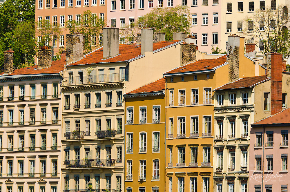 Buildings in downtown Lyon, France  (UNESCO World Heritage Site)