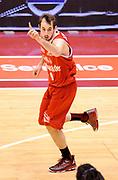 DESCRIZIONE : Milano Coppa Italia Final Eight 2013 Quarti di Finale Montepaschi Siena Trenkwalder Reggio Emilia<br /> GIOCATORE : Mladen Jeremic<br /> CATEGORIA : Esultanza <br /> SQUADRA : Trenkwalder Reggio Emilia<br /> EVENTO : Beko Coppa Italia Final Eight 2013<br /> GARA : Montepaschi Siena Trenkwalder Reggio Emilia<br /> DATA : 08/02/2013<br /> SPORT : Pallacanestro<br /> AUTORE : Agenzia Ciamillo-Castoria/A.Giberti<br /> Galleria : Lega Basket Final Eight Coppa Italia 2013<br /> Fotonotizia : Milano Coppa Italia Final Eight 2013 Quarti di Finale Montepaschi Siena Trenkwalder Reggio Emilia<br /> Predefinita :