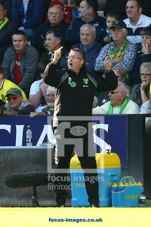 Picture by Paul Chesterton/Focus Images Ltd.  07904 640267.15/10/11.Norwich Manager Paul Lambert during the Barclays Premier League match at Carrow Road stadium, Norwich.
