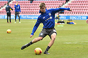 Bury Forward, George Miller one the ball during pre match warm up during the Sky Bet League 1 match between Wigan Athletic and Bury at the DW Stadium, Wigan, England on 27 February 2016. Photo by Mark Pollitt.