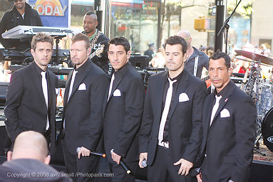 New Kids on the Block appear on The Today Show at Rockefeller Center on May 8,2009. New York, NY. .l-r  Joey McIntyre, Donnie Wahlberg, Jonathan Knight, Jordan Knight and Danny Wood
