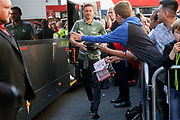 Manchester United Midfielder Nemanja Matic arrives off club coach before the Premier League match between Bournemouth and Manchester United at the Vitality Stadium, Bournemouth, England on 18 April 2018. Picture by Phil Duncan.