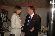 THE COUNTESS OF WOOLTON AND ANDREW PARKER BOWLES, Cartier dinner in the Chelsea Physic Garden. 22 May 2006. ONE TIME USE ONLY - DO NOT ARCHIVE  © Copyright Photograph by Dafydd Jones 66 Stockwell Park Rd. London SW9 0DA Tel 020 7733 0108 www.dafjones.com