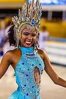 Samba schools participating in the Children's Carnaval parade, Sambadrome, Rio de Janeiro, Brazil.
