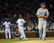 CHICAGO, IL - OCTOBER 22:  Clayton Kershaw #22 of the Los Angeles Dodgers looks on during Game 6 of the NLCS against the Chicago Cubs at Wrigley Field on Saturday, October 22, 2016 in Chicago, Illinois. (Photo by Ron Vesely/MLB Photos via Getty Images) *** Local Caption *** Clayton Kershaw