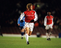 Fotball: Junichi Inamoto, Arsenal. Arsenal v Bayer Leverkusen. Champions League.27.02.2002.<br />