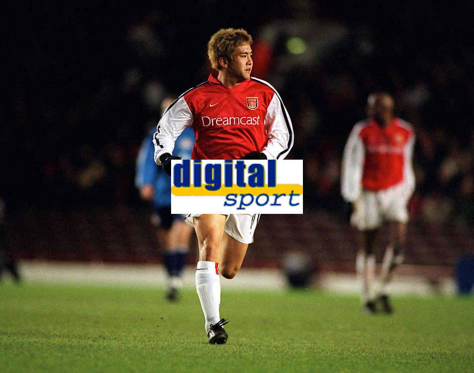 Fotball: Junichi Inamoto, Arsenal. Arsenal v Bayer Leverkusen. Champions League.27.02.2002.<br /><br /> Foto : Andrew Cowie/Digitalsport