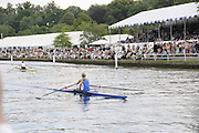 Henley, Great Britain.  Henley Royal Regatta. Gevvie STONE, Cambridge Boat Club, USA [Bucks], leads Femke DEKKER, Amsterdamsche Studenten Roeivereeniging Nereus, Holland, NED [Berks], as they pass Stewards' Enclosure, in the Semi-Final, of the Princess Royal Challenge Cup. River Thames Henley Reach.  Royal Regatta. River Thames Henley Reach.  Saturday  02/07/2011  [Mandatory Credit  Intersport Images] . HRR