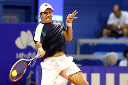 Carlos Berlocq from Argentina during a tennis match against the Andrey Rublev from Russia in 1st round of singles at Plava Laguna Croatia Open Umag, on July 18, 2017 in Stadium Gorana Ivanisevica, Umag, Croatia. Photo by Urban Urbanc / Sportida