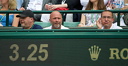 LONDON, ENGLAND - Wednesday, June 25, 2014: Petra Kvitova's coach David Kotyza during the Ladies' Singles 2nd Round match on day three of the Wimbledon Lawn Tennis Championships at the All England Lawn Tennis and Croquet Club. (Pic by David Rawcliffe/Propaganda)