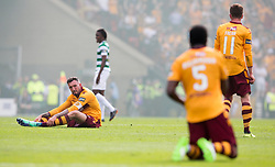 Motherwell players appear dejected after the William Hill Scottish Cup Final at Hampden Park, Glasgow.