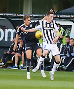 Dundee's Greg Stewart and Dunfermline's Lewis Martin - Dunfermline Athletic v Dundee - Scottish League Cup at East End Park<br />