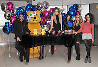 Peter Andre, Stacey Solomon, The Sugababes Amelle Berrabah, Heidi Range & Jade Ewen celebrate the launch of 'BBC Children in Need POP Goes the Musical at The Roof Gardens, Kensington, London, UK, 31 August 2011:  Contact: Rich@Piqtured.com +44(0)7941 079620 (Picture by Alan Roxborough)