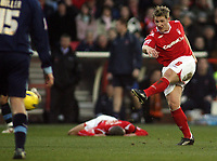 Photo: Paul Thomas.<br /> Nottingham Forest v Leyton Orient. Coca Cola League 1. 16/12/2006.<br /> <br /> Kris Commons of Forest shoots for goal.