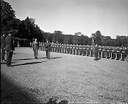 President Eamon de Valera receives President Nixon.<br /> 1970.<br /> 05.10.1970.<br /> 10.05.1970.<br /> 5th October 1970.<br /> President DeValera hosted President Richard Nixon at a reception in Áras an Uachtaráin in the Phoenix Park today.