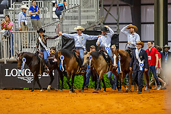 Deutsches Reining Team<br /> Tryon - FEI World Equestrian Games™ 2018<br /> Siegerehrung Teams<br /> Reining Teamwertung und 1.Einzelqualifikation<br /> 12. September 2018<br /> © www.sportfotos-lafrentz.de/Stefan Lafrentz
