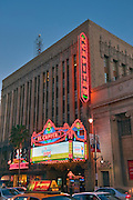 El Capitan Theatre, Neon Lights,  restored movie palace, Hollywood, CA, Stars, Walk of Fame, Los Angeles, Ca,  entertainment, tourist, attractions