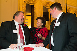 Courier-Journal Publisher Wes Jackson talks with fellow honoree Carol Haddad, center and former classmate Joey Riddle at The Crimson Mission Gala, Saturday, March 04, 2017 at the Henry Clay in Louisville.<br /> <br /> The Crimson Mission, Inc. is an independent, non-profit organization that has been established to raise contributions to provide financial assistance to duPont Manual High School and the Youth Performing Arts School (YPAS) in Louisville, KY. Incorporated in 2015, the Crimson Mission, Inc.&rsquo;s sole purpose is make duPont Manual High School a national model of excellence by raising and allocating resources to support and enhance our mission. The Crimson Mission, Inc. is a diverse, enthusiastic and committed organization that is appropriately structured and financially viable to fulfill the mission of making duPont Manual High School an national model of excellence.