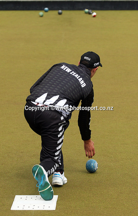 Andrew Kelly of New Zealand during the Trans Tasman Bowls Event for Senior and Development bowls players from both New Zealand and Australia held at Burnside Bowling Club, Christchurch. 19 March 2015 Photo: Joseph Johnson/www.photosport.co.nz