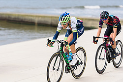 Tayler Wiles and Barbara Guarischi escape - Energiewacht Tour 2016 - Stage 5 Borkum, Germany.