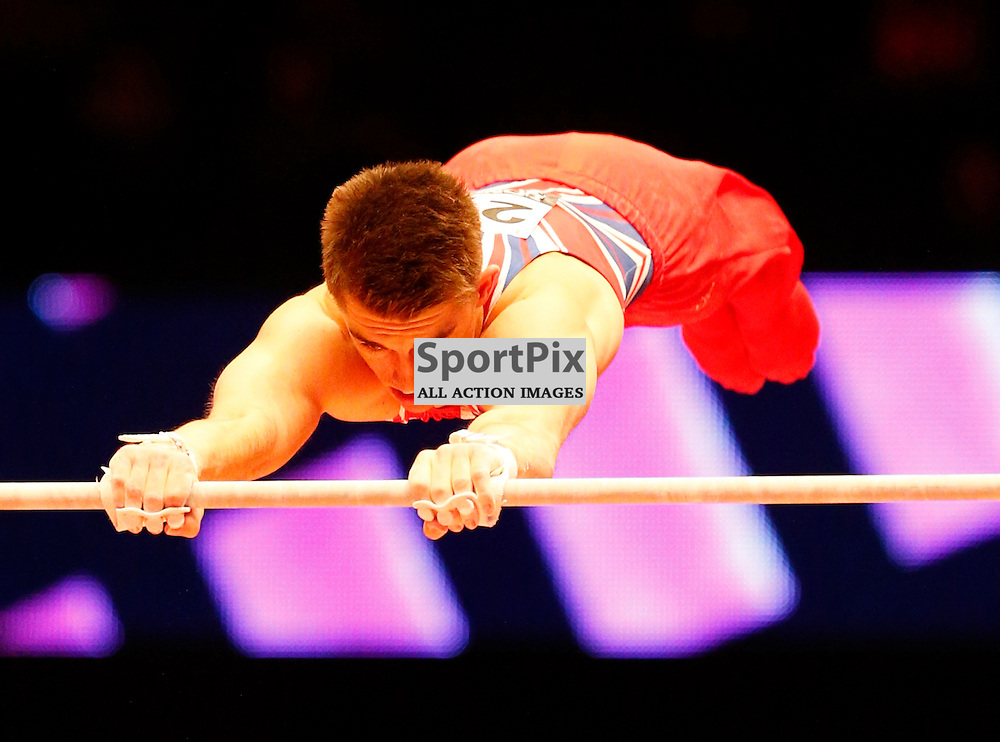 2015 Artistic Gymnastics World Championships being held in Glasgow from 23rd October to 1st November 2015...Max Whitlock (Great Britain) competing in the Horizontal Bar competition..(c) STEPHEN LAWSON | SportPix.org.uk