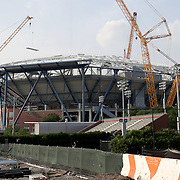 Arthur Ashe Stadium Roof Construction New York