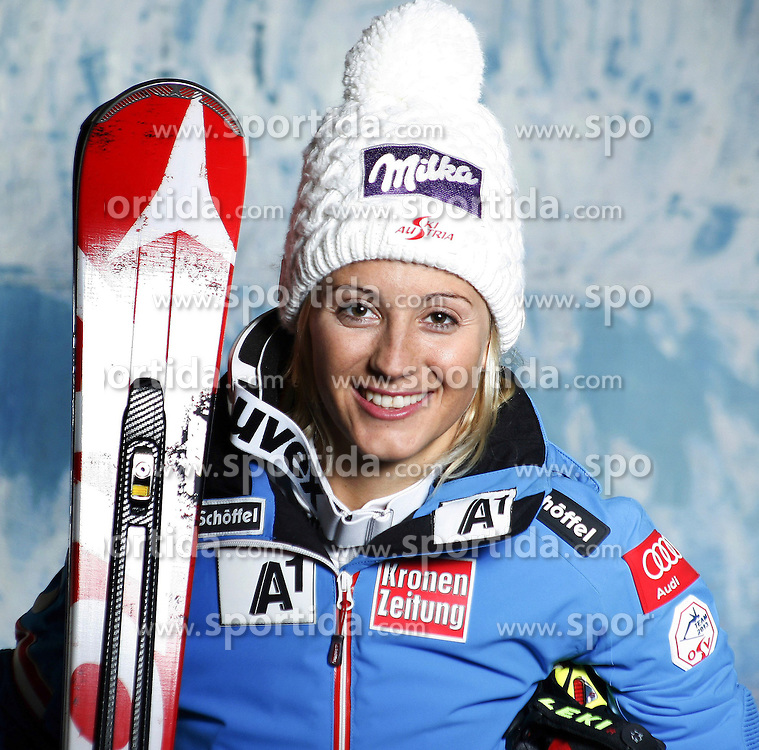 20.10.2012, Messehalle, Innsbruck, AUT, OeSV, Ski Alpin, Fototermin, im Bild Michaela Kirchgasser (OeSV, Skirennlaeuferin) // during the official Portrait and Teamshooting of the Austrian Ski Federation (OeSV) at the Messehalle, Innsbruck, Austria on 2012/10/20. EXPA Pictures © 2012, PhotoCredit: EXPA/ OeSV/ Erich Spiess