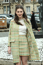 Millie Brady arrives at the Miu Miu show as part of the Paris Fashion Week Womenswear Fall, Winter 2016, 2017 on March 9, 2016 in Paris, France. EXPA Pictures © 2016, PhotoCredit: EXPA/ Photoshot/ Zenon Stefaniak<br /> <br /> *****ATTENTION - for AUT, SLO, CRO, SRB, BIH, MAZ, SUI only*****