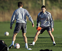 Photo: Paul Thomas.<br /> England training session. 05/02/2007.<br /> <br /> Gareth Barry during England training.