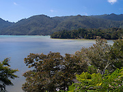 View of Awaroa Inlet near Takaka, New Zealand.