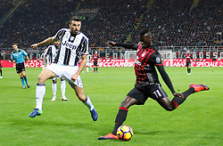 22.10.2016, Stadio Giuseppe Meazza, Mailand, ITA, Serie A, AC Milan vs Juventus Turin, 9. Runde, im Bild Barzagli Niang // Barzagli Niang during the Italian Serie A 9th round match between AC Milan and Juventus Turin at the Stadio Giuseppe Meazza in Mailand, Italy on 2016/10/22. EXPA Pictures © 2016, PhotoCredit: EXPA/ laPresse/ Spada<br /> <br /> *****ATTENTION - for AUT, SUI, CRO, SLO only*****