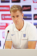 Joe Hart of England during the England press conference at Estádio Claudio Coutinho, Rio de Janeiro<br /> Picture by Andrew Tobin/Focus Images Ltd +44 7710 761829<br /> 21/06/2014