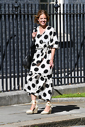 © Licensed to London News Pictures. 05/07/2020. London, UK. Clap for Carers founder AnneMarie Plas arrives at Downing St to mark the 72nd anniversary and to thank staff for their work in tackling the coronavirus pandemic. Photo credit: Ray Tang/LNP