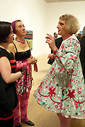 JACKY KLEIN; SILVIA ZIRANEK; GRAYSON PERRY, Private view for the Turner prize exhibition. Tate Britain. London. 4 October 2010. -DO NOT ARCHIVE-© Copyright Photograph by Dafydd Jones. 248 Clapham Rd. London SW9 0PZ. Tel 0207 820 0771. www.dafjones.com.