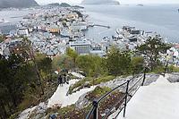 De nye trappene til Fjellstua.<br /> Foto: Svein Ove Ekornesvåg