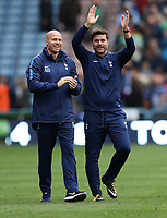 Football - 2017 / 2018 Premier League - Huddersfield Town vs. Tottenham Hotspur<br /> <br /> Mauricio Pochetino manager of Tottenham Hotspur waves to the fans after the match at John Smith Stadium.<br /> <br /> COLORSPORT/LYNNE CAMERON
